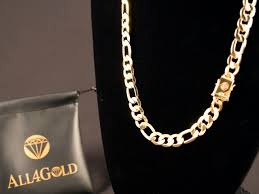 best gold chain necklace images 10mm gold 26 quot box clasp figaro necklace jpg