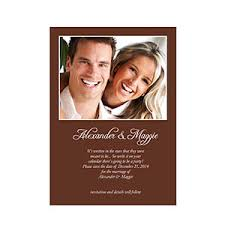 wedding announcements chocolate wedding announcement small stationery card