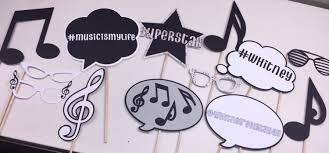 music themed music themed photo booth props