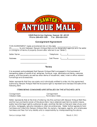 blank consignment contract template free download