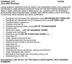 Java J2ee Sample Resume by The Worst Developer Resume In The World Java Code Geeks 2017