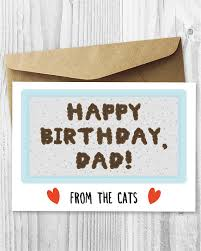funny printable birthday card from the cats birthday card for
