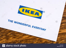 london uk january 13th 2017 a close up of the ikea company