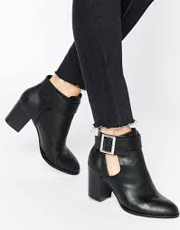 womens boots uk asos image 1 of asos eversleigh cut out ankle boots closet