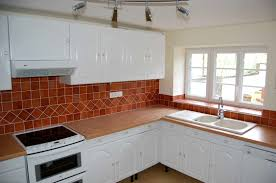 red tile backsplash kitchen kitchen room modern small kitchen wall unit walls white cabinets