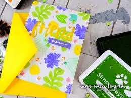 studio monday with nina marie stamp layering with pantone green