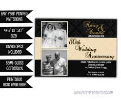 black gold 50th wedding anniversary invitations 50th wedding