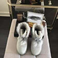 s grey ankle ugg boots 32 ugg shoes gita ugg boots in grey violet pom pom ankle