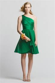 emerald green bridesmaid dress line one shoulder emerald green chiffon wedding