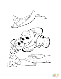 finding nemo coloring pages free baby disney baby finding nemo