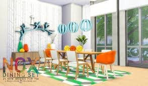 Sims 4 Furniture Sets Simsational Designs Updated Nox Dining Set