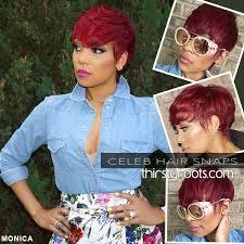 short red haircut for black women monica brown