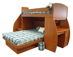 White Wood Loft Bed With Desk by Full Size Loft Bed With Desk And Storage Brown Wooden Laminated