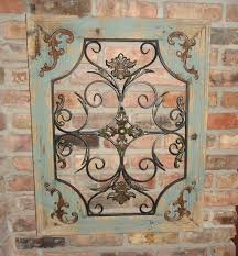 rustic turquoise wood u0026 metal wall decor cottage chic shabby