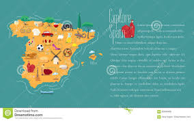Map Spain Map Of Spain Template Vector Illustration Stock Vector Image