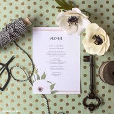 diy wedding menu cards 259 diy wedding craft tutorials to bring your special day to