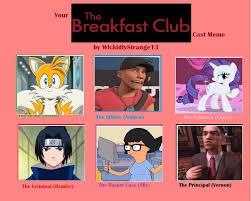Breakfast Club Meme - my breakfast club cast by cmara on deviantart