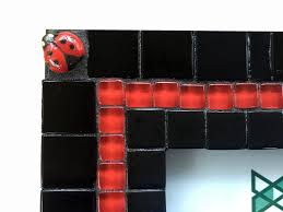 black and red picture frame mosaic picture frame ladybug home