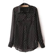 black polka dot blouse black sleeve polka dot chiffon blouse polyvore