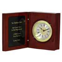 personalized clocks with pictures personalized desktop clocks executive gift shoppe