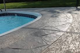 painted outdoor concrete around pool concrete pool deck design