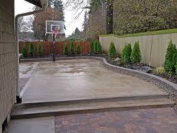 Basketball Backyard Concrete Backyard Basketball Court Home Outdoor Decoration
