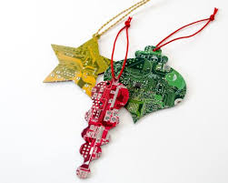 circuit board ornament gift set geeky ornaments