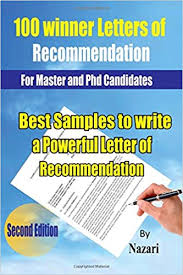 100 winner letters of recommendation for master and phd