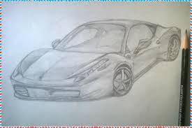ferrari 458 sketch how to draw a car ferrari 458 italia youtube