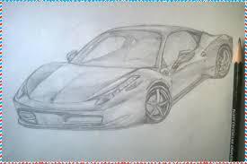 ferrari 458 sketch how to draw a car ferrari 458 italia youtube