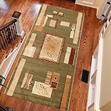 amazon co uk green runners carpets u0026 rugs home u0026 kitchen