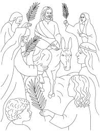 palm sunday coloring page for kids color luna