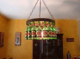 Orange Glass Chandelier Furniture Unusual Beer Bottle Chandelier For Diy Pendant Light
