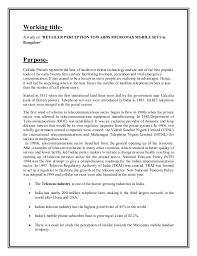 Software Testing Resume Samples by Mba Project Report Synopsis Micromax Updated