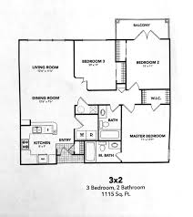 3 Bed Room Floor Plan Salt Lake City Apartments Floor Plans The Braxton At Trolley