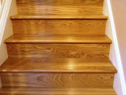 interior awesome straight stair design with brown oak wooden tread