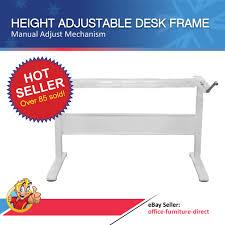 Manual Adjustable Height Desk by Height Adjustable Desk Manual Sit Stand Desks Frame Only Office