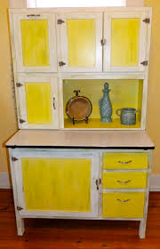furniture brown wooden hoosier cabinet with white countertop for