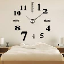 modern simple style diy large 3d time clock wall sticker lazada