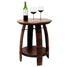recycled wine barrel side table recycled wine barrel side table