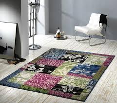 teppiche design velours design teppich jardin patchwork grün blau rosa