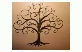 tree of metal wall
