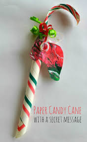 easy paper candy cane with a secret message kids steam lab