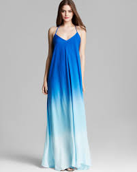 ombre maxi dress lyst fabulous maxi dress fortune ombre in blue
