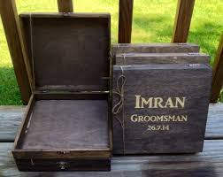 wooden groomsmen gifts rustic groomsmen gift set of 7 wooden cigar boxes laser