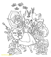 best of disney alice in wonderland coloring pages