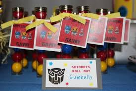 transformer party favors top transformers party ideas brisbane kids