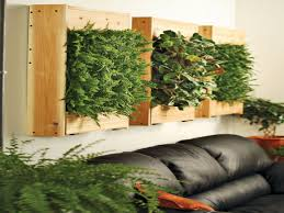 living room indoor living wall planter with white polyester