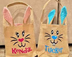 easter bags easter bunny bag etsy
