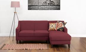 Indian Sofa Design L Shape Buy Hayden L Shape Sofa 2 Seater With Chaise R Online In India